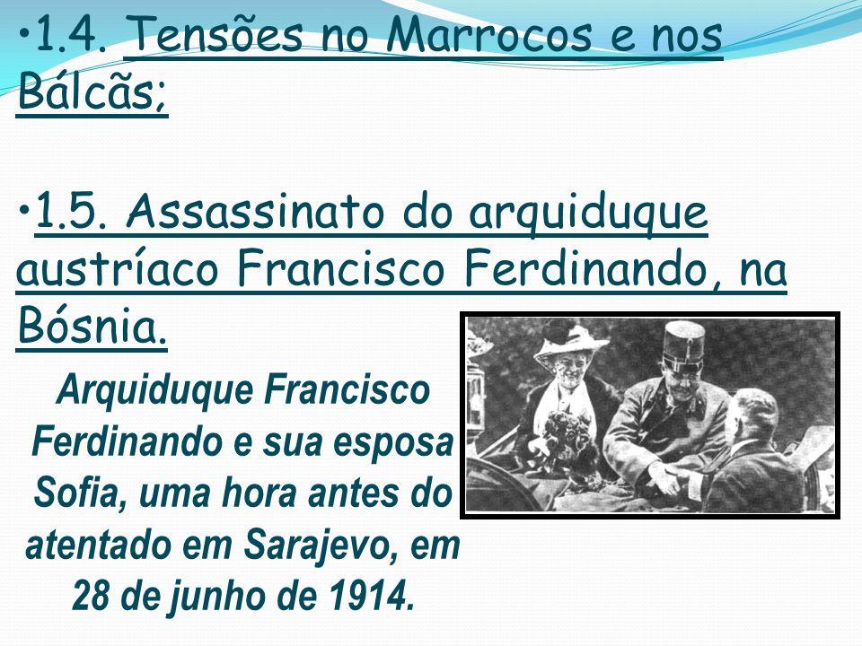 1.4. Tensões no Marrocos e nos Bálcãs;