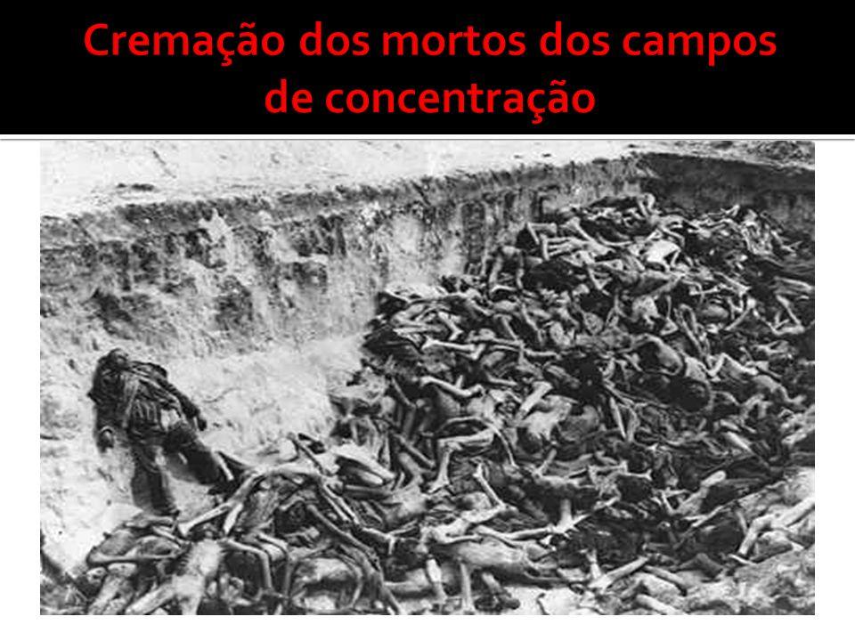 Cremação dos mortos dos campos de concentração