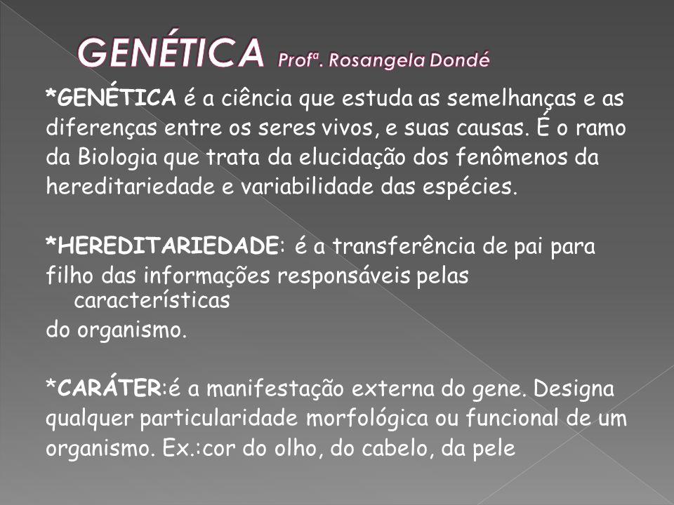 GENÉTICA Profª. Rosangela Dondé