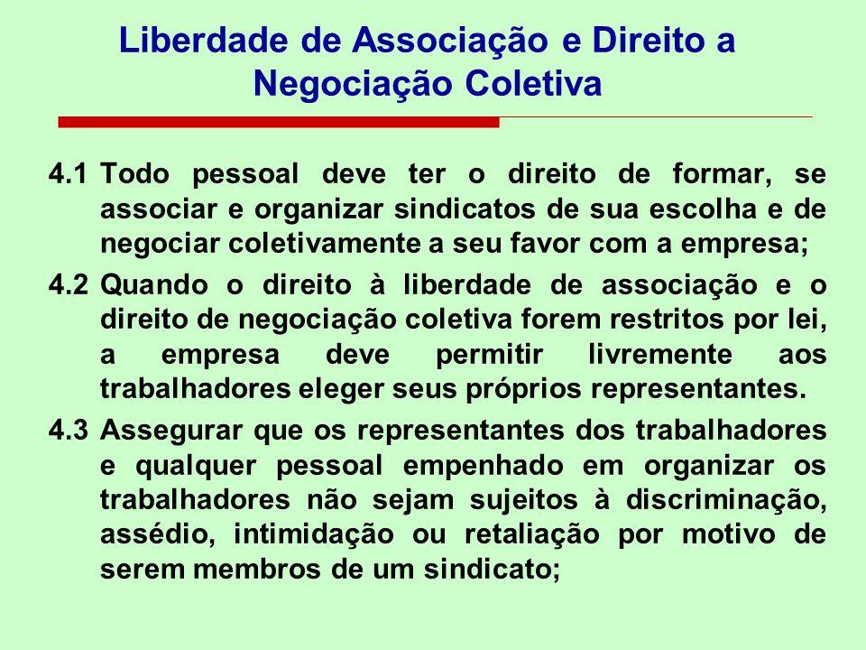 Liberdade de Associação e Direito a Negociação Coletiva