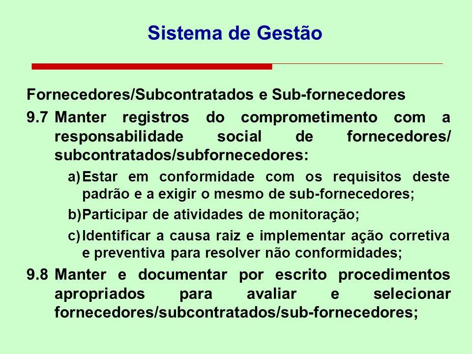 Sistema de Gestão Fornecedores/Subcontratados e Sub-fornecedores