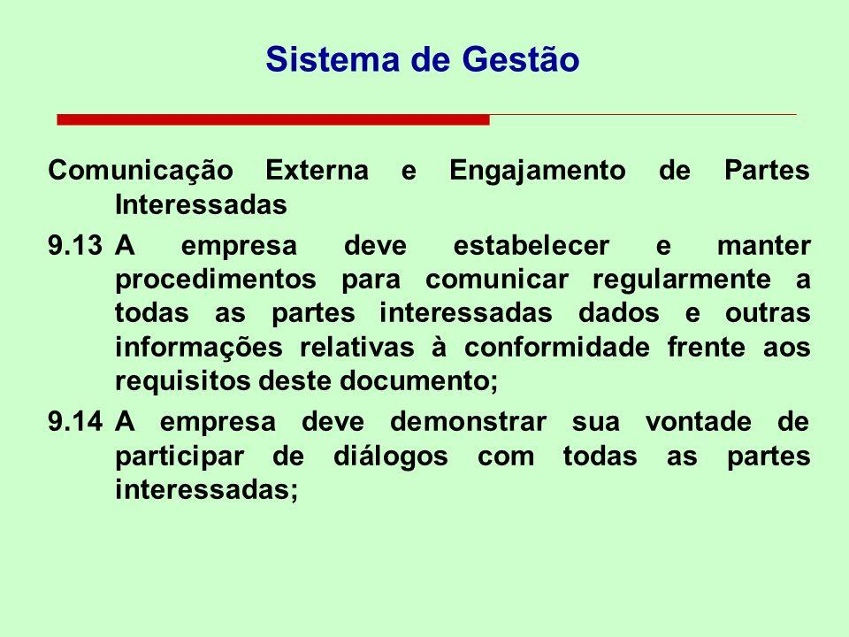 Sistema de Gestão Comunicação Externa e Engajamento de Partes Interessadas.
