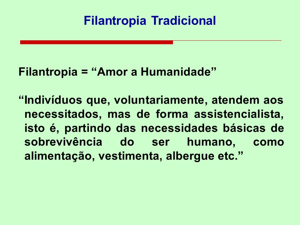 Filantropia Tradicional