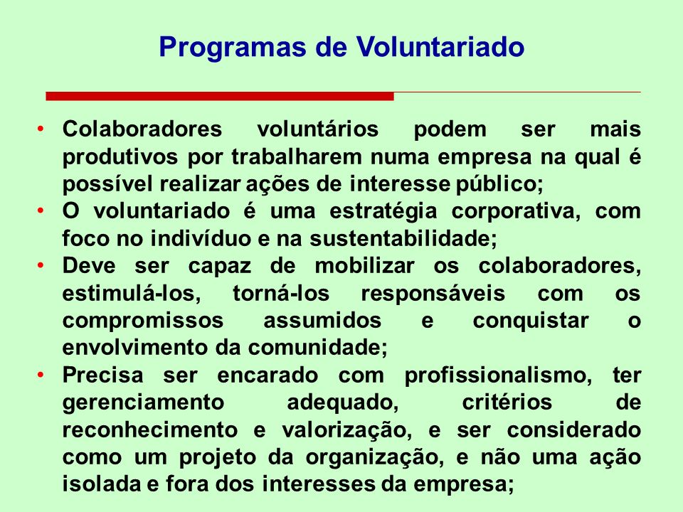 Programas de Voluntariado