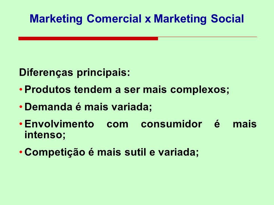 Marketing Comercial x Marketing Social