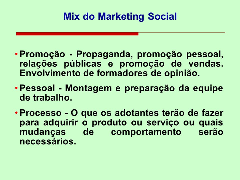 Mix do Marketing Social
