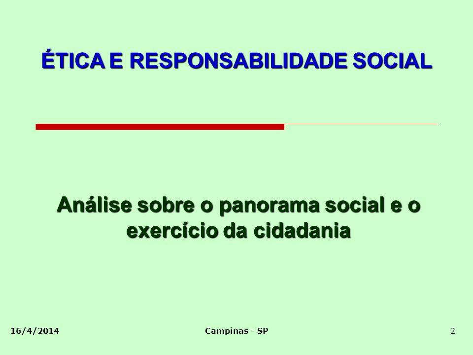 Análise sobre o panorama social e o exercício da cidadania