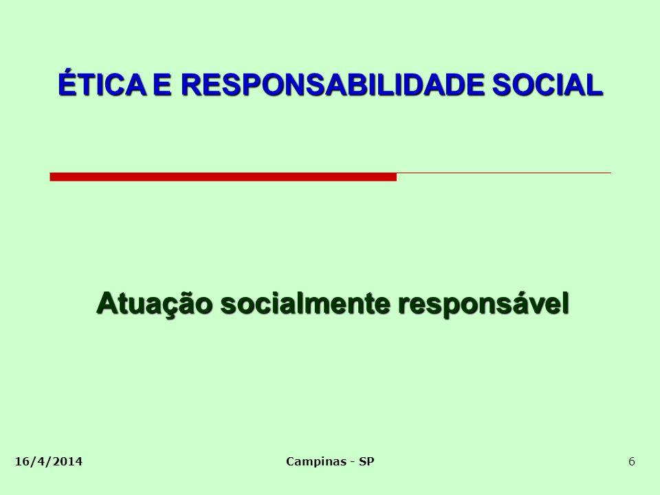 Atuação socialmente responsável