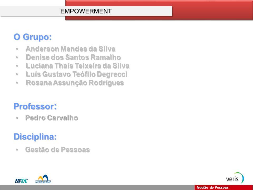O Grupo: Professor: Disciplina: Anderson Mendes da Silva
