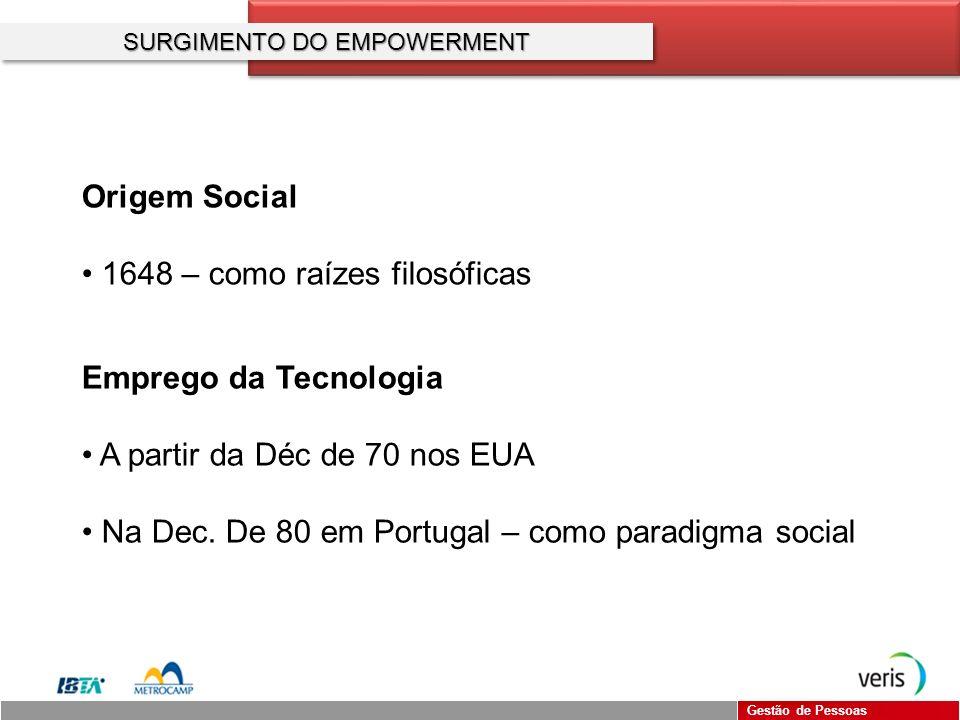 SURGIMENTO DO EMPOWERMENT