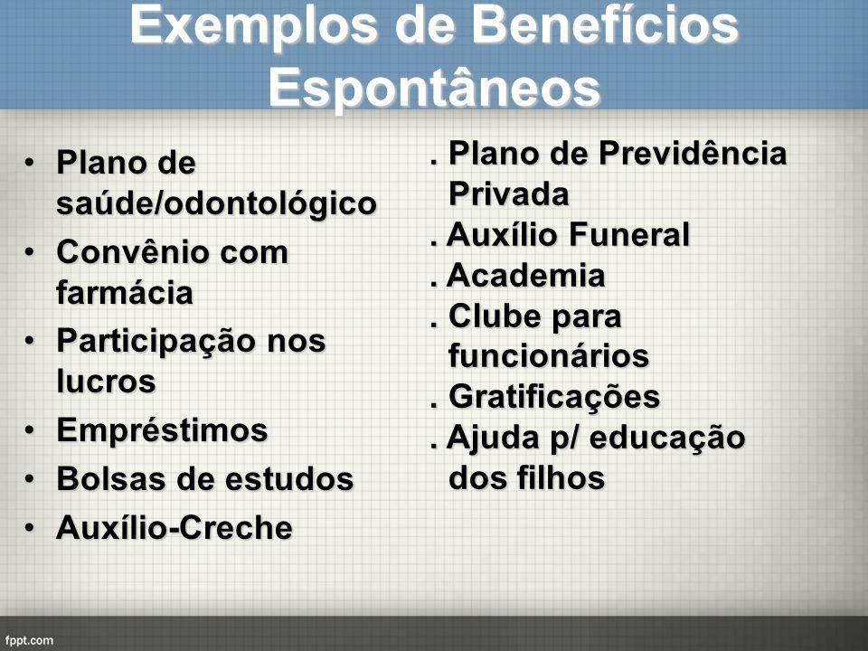 Exemplos de Benefícios Espontâneos
