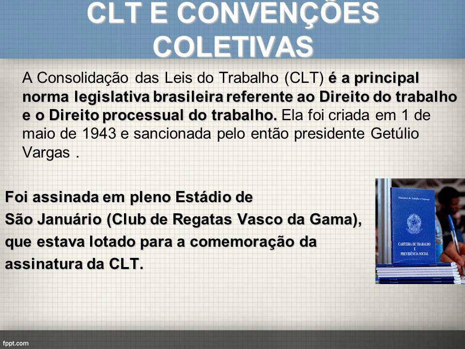 CLT E CONVENÇÕES COLETIVAS