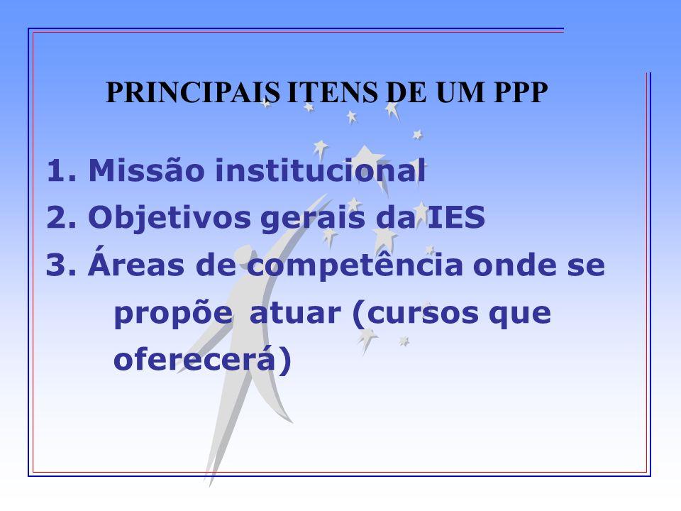 PRINCIPAIS ITENS DE UM PPP