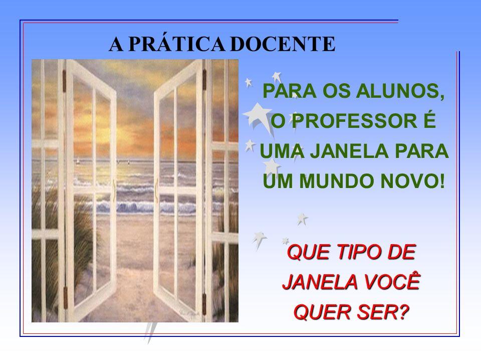 PARA OS ALUNOS, O PROFESSOR É UMA JANELA PARA UM MUNDO NOVO!