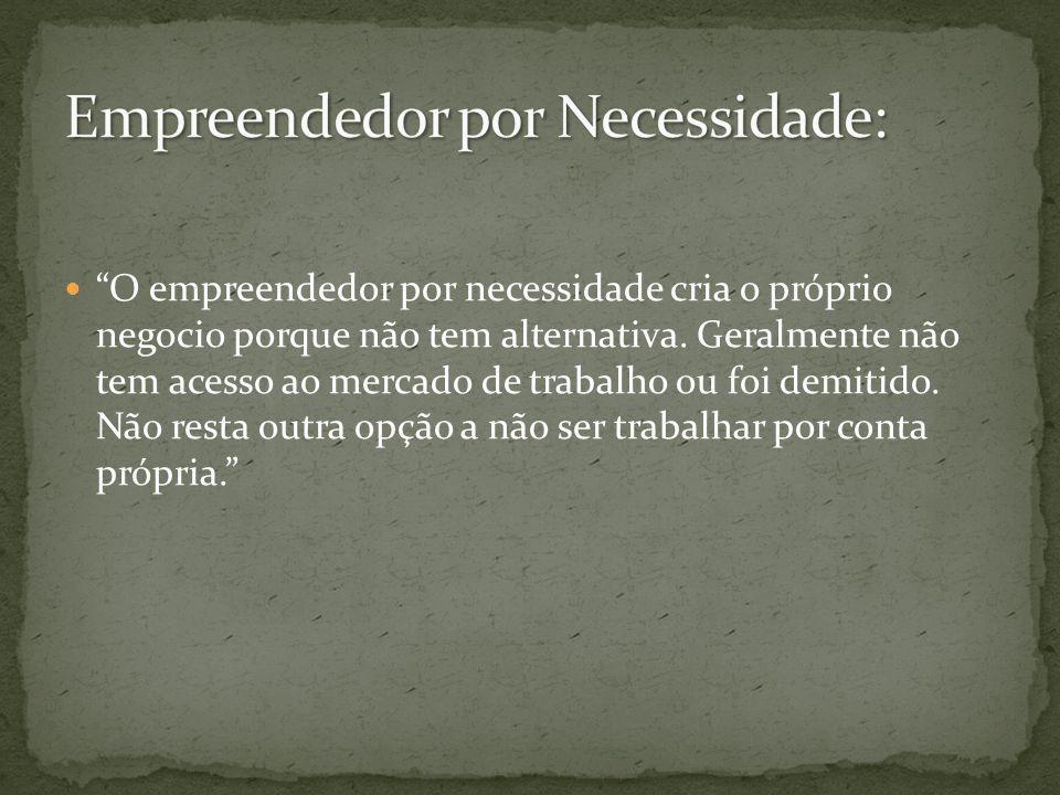 Empreendedor por Necessidade: