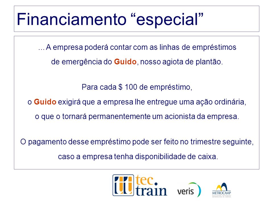 Financiamento especial