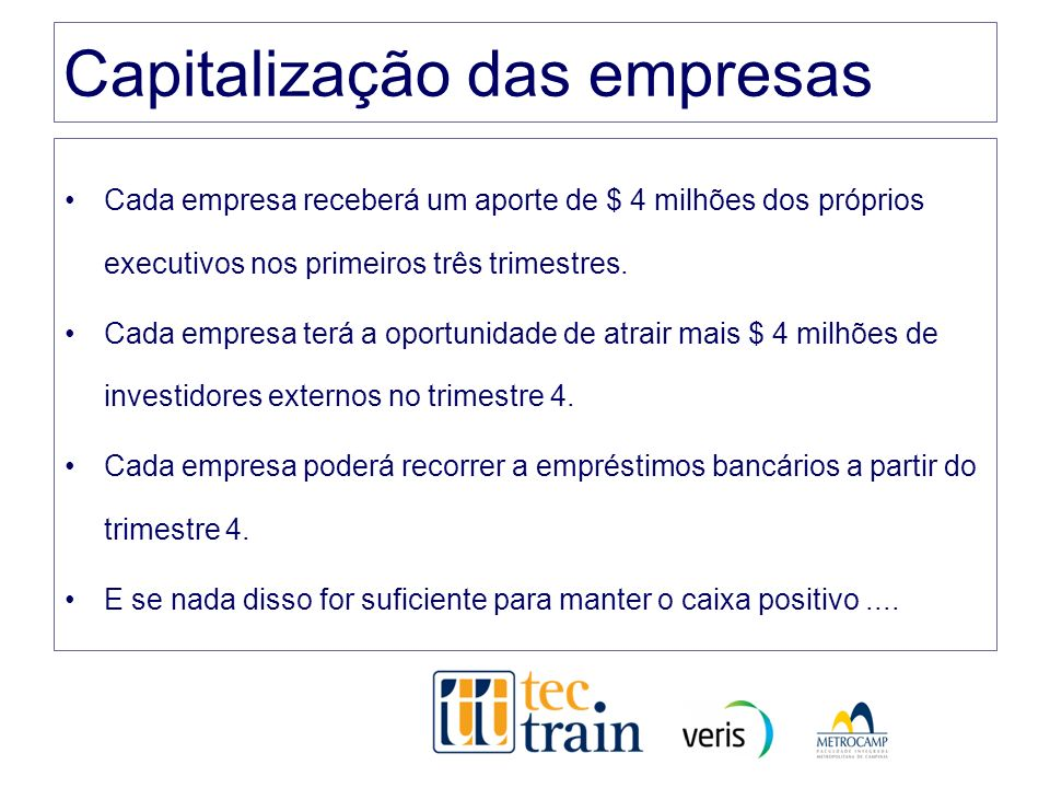 Capitalização das empresas