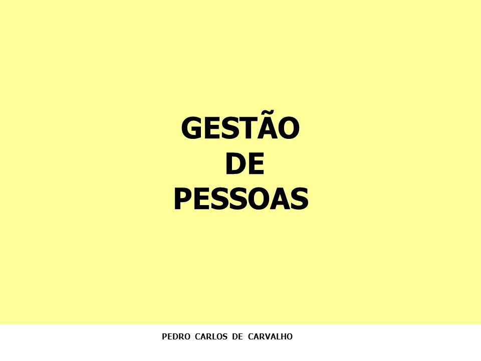 GESTÃO DE PESSOAS PEDRO CARLOS DE CARVALHO