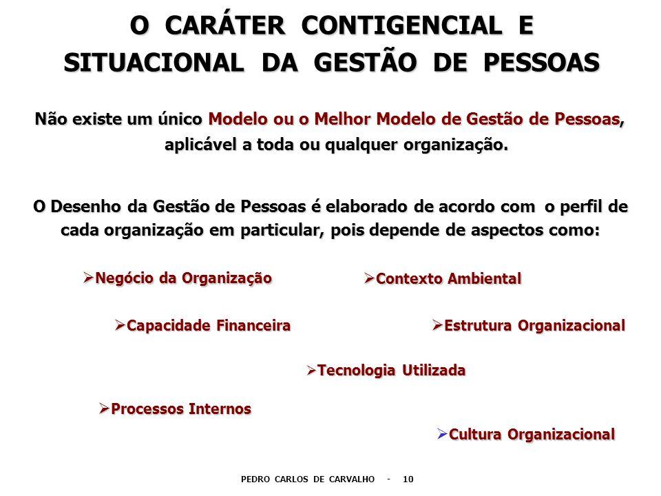 O CARÁTER CONTIGENCIAL E SITUACIONAL DA GESTÃO DE PESSOAS