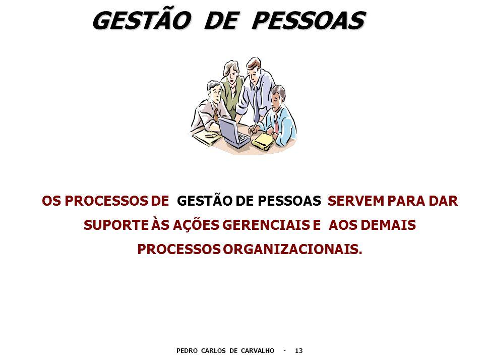 GESTÃO DE PESSOAS OS PROCESSOS DE GESTÃO DE PESSOAS SERVEM PARA DAR