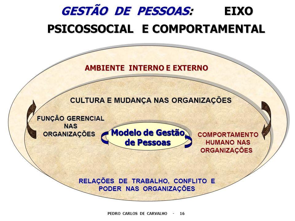 GESTÃO DE PESSOAS: EIXO PSICOSSOCIAL E COMPORTAMENTAL