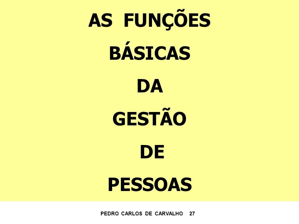 AS FUNÇÕES BÁSICAS DA GESTÃO DE PESSOAS