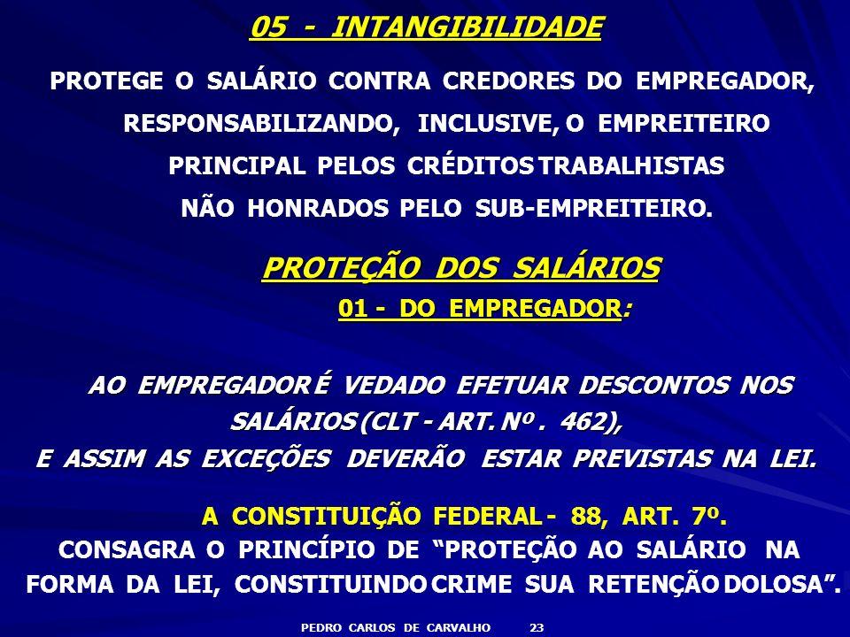 05 - INTANGIBILIDADE