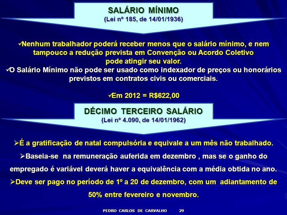 DÉCIMO TERCEIRO SALÁRIO