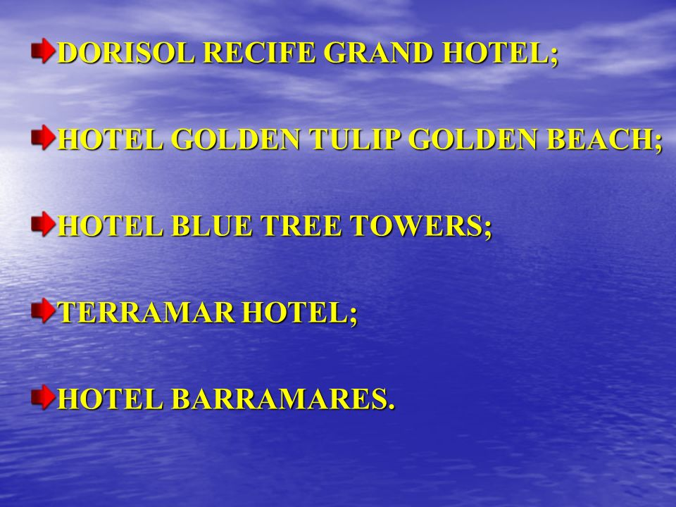 DORISOL RECIFE GRAND HOTEL;