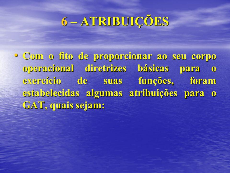 6 – ATRIBUIÇÕES