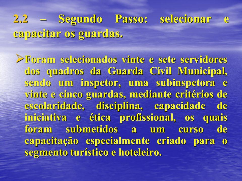 2.2 – Segundo Passo: selecionar e capacitar os guardas.