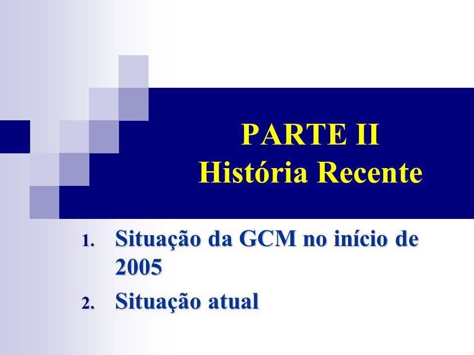 PARTE II História Recente