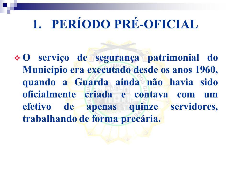 PERÍODO PRÉ-OFICIAL