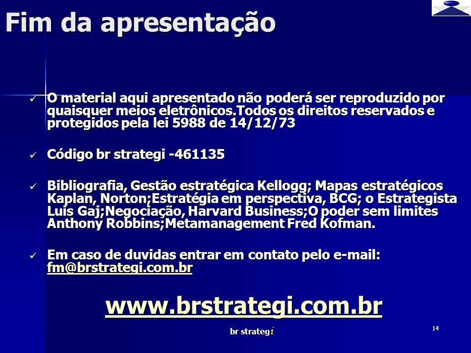 Fim da apresentação www.brstrategi.com.br