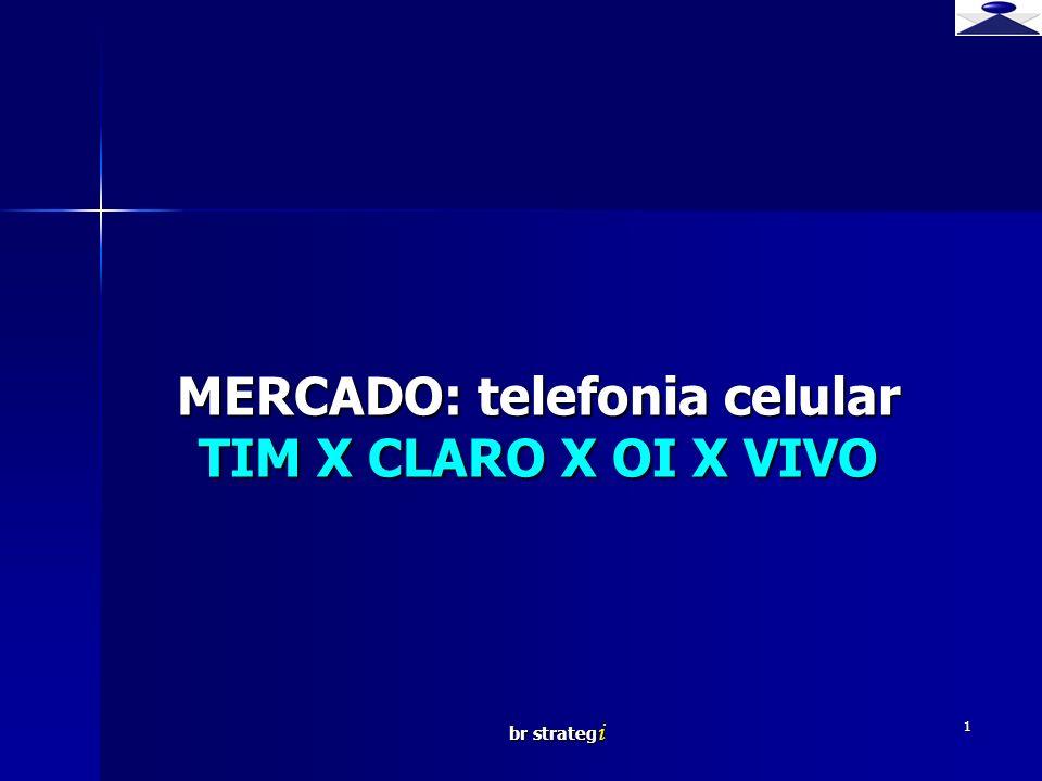 MERCADO: telefonia celular TIM X CLARO X OI X VIVO