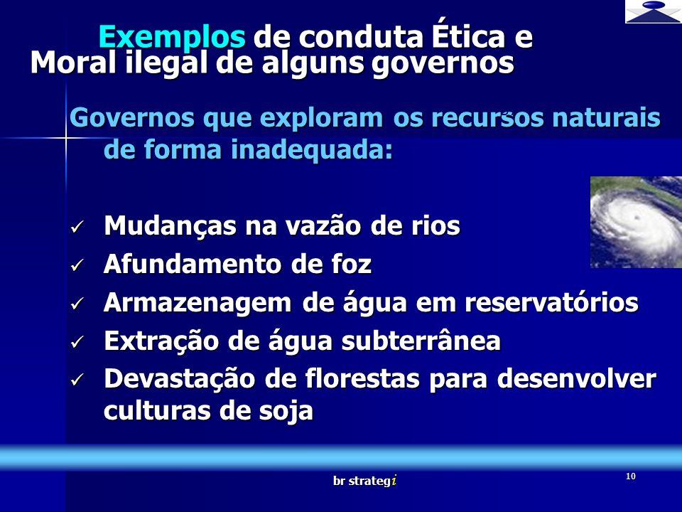 Exemplos de conduta Ética e Moral ilegal de alguns governos