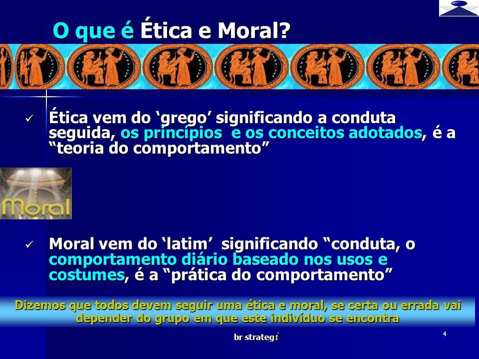 O que é Ética e Moral Brief strategy.