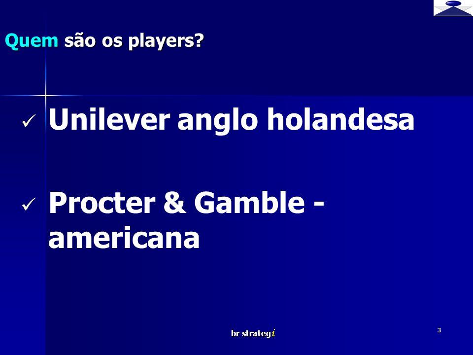 Unilever anglo holandesa Procter & Gamble - americana