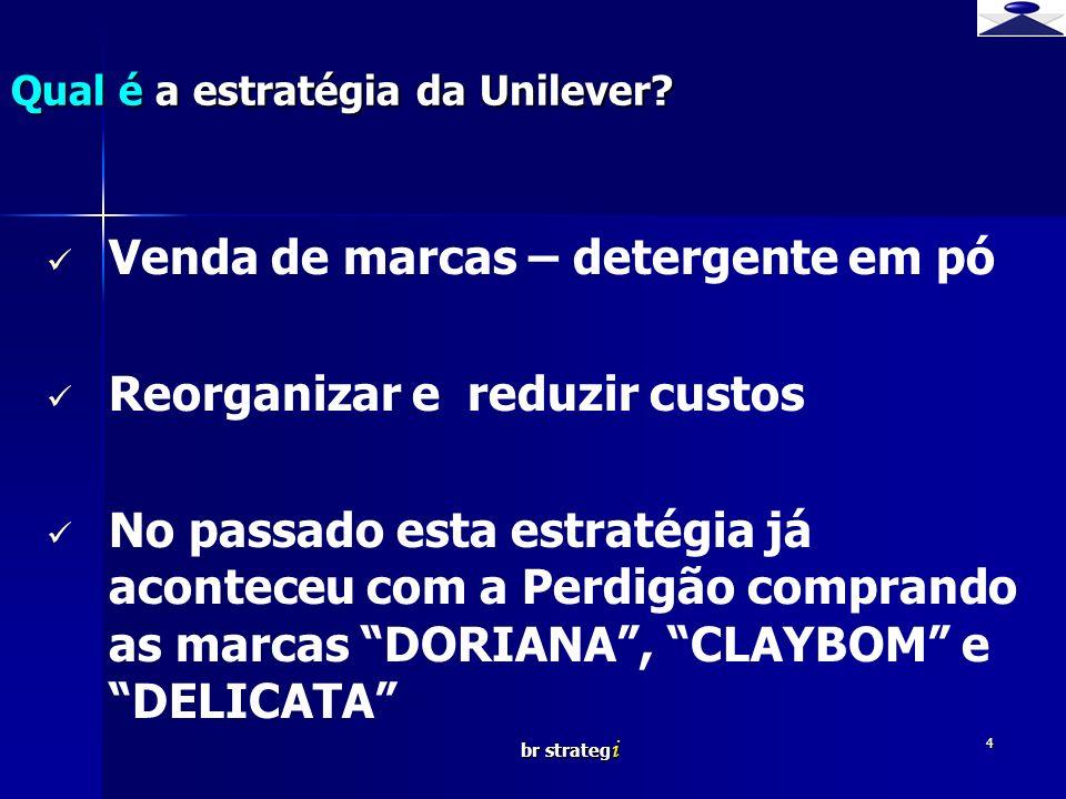 Qual é a estratégia da Unilever
