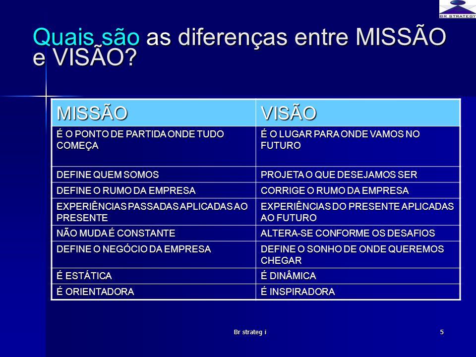 Quais são as diferenças entre MISSÃO e VISÃO