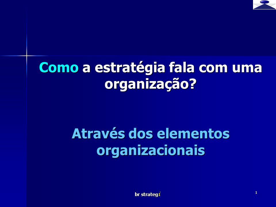 Como a estratégia fala com uma organização