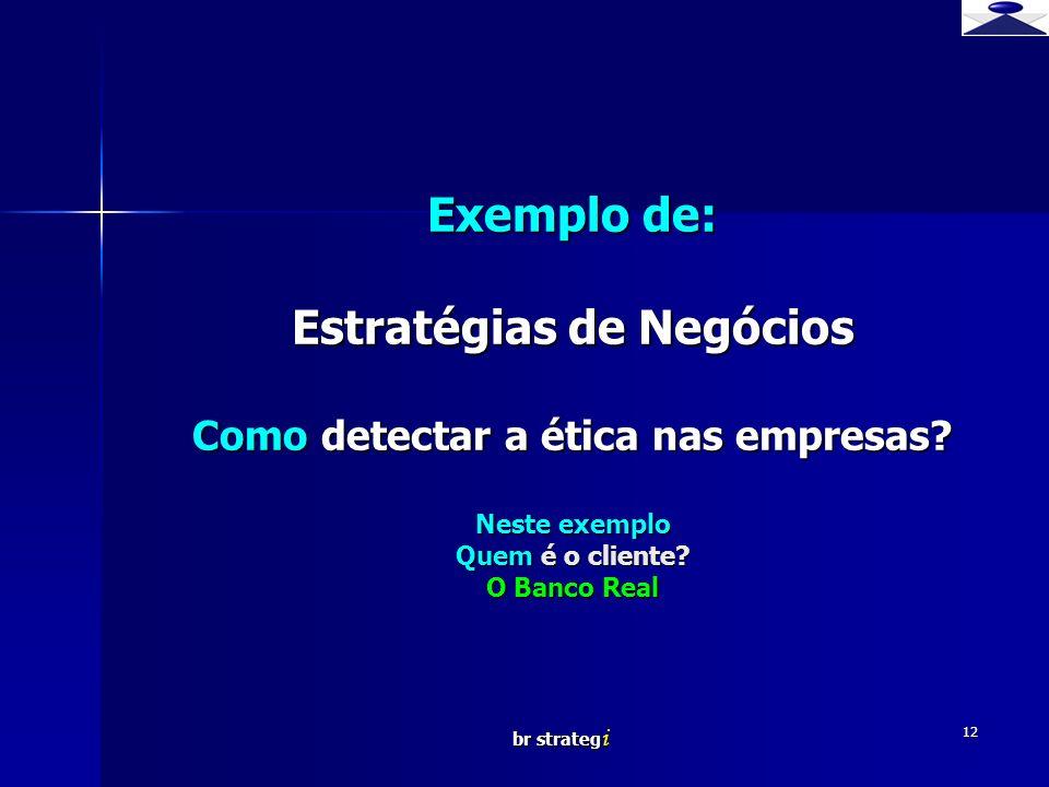 Exemplo de: Estratégias de Negócios Como detectar a ética nas empresas