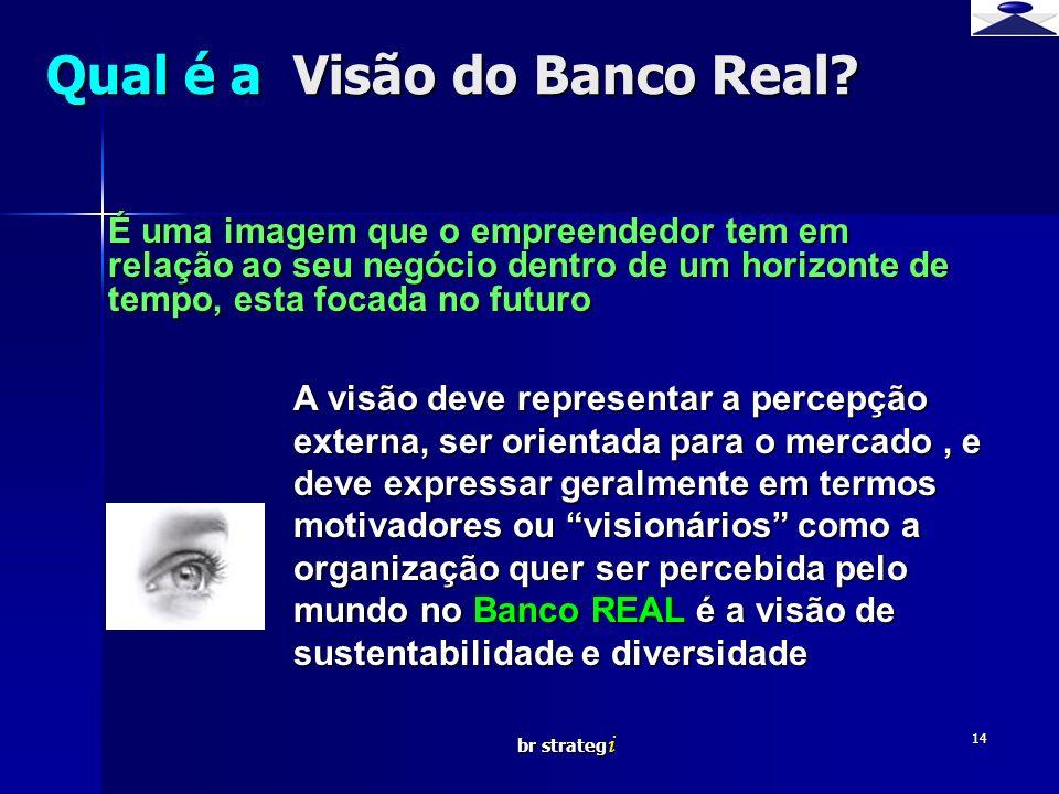 Qual é a Visão do Banco Real