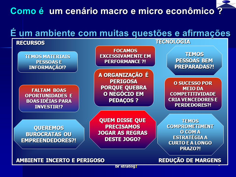 Como é um cenário macro e micro econômico