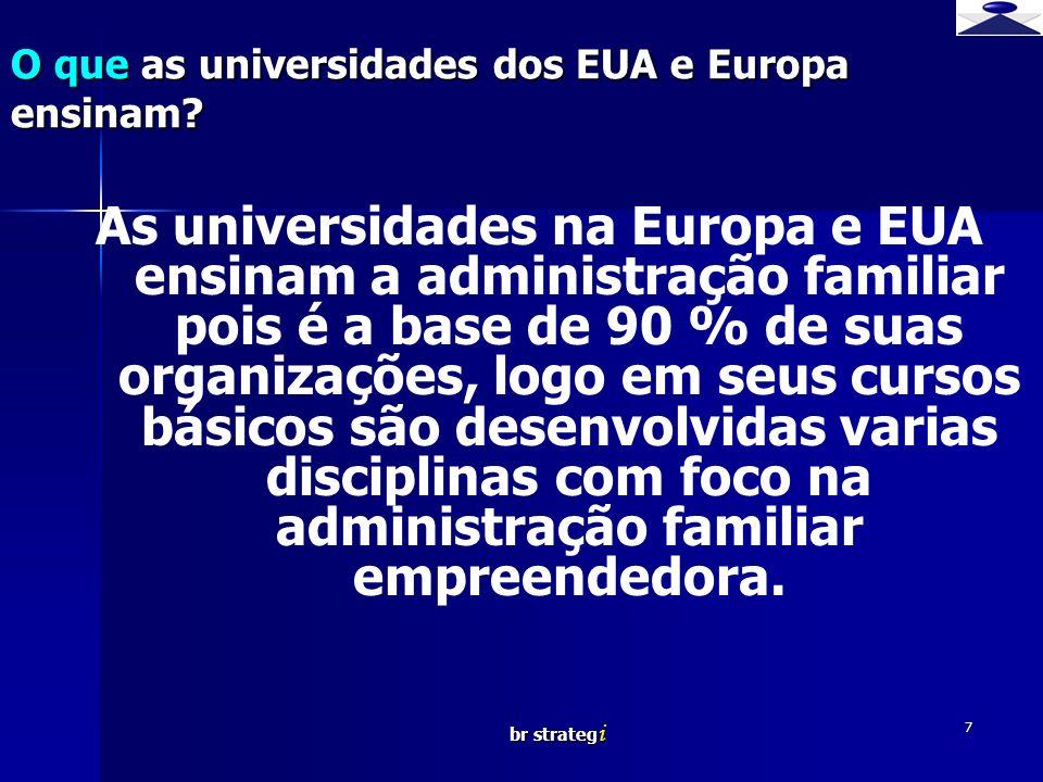 O que as universidades dos EUA e Europa ensinam