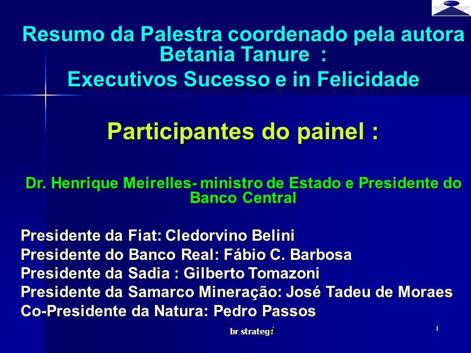 Participantes do painel :