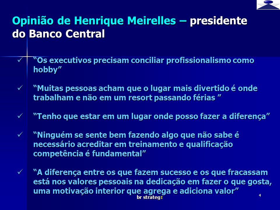 Opinião de Henrique Meirelles – presidente do Banco Central