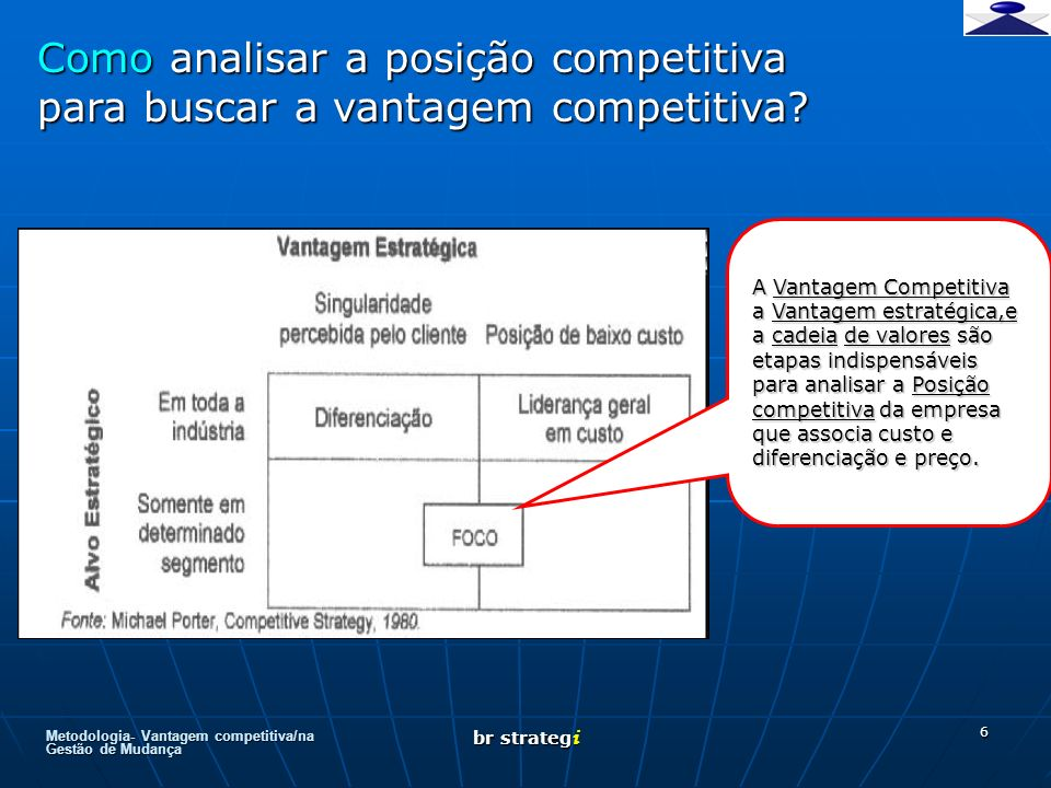 Como analisar a posição competitiva para buscar a vantagem competitiva
