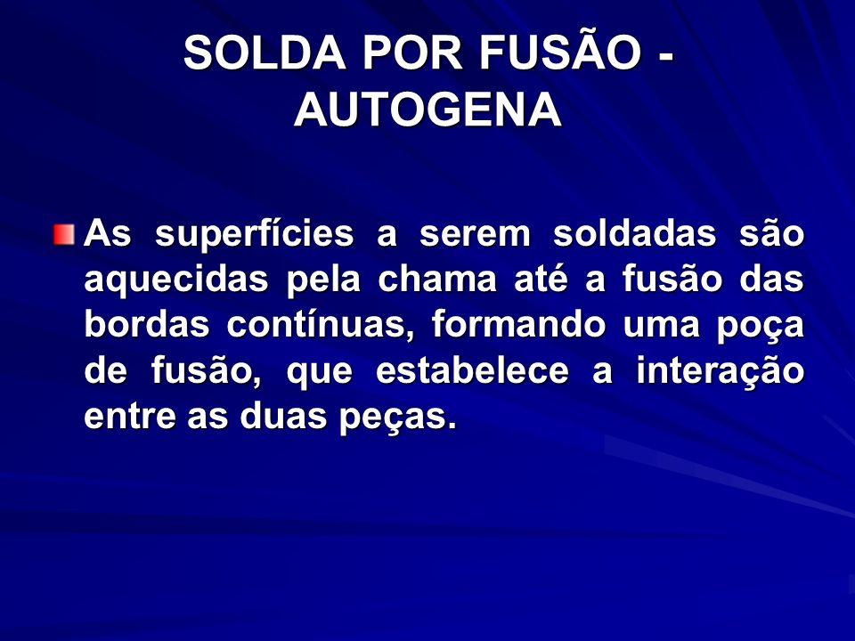 SOLDA POR FUSÃO - AUTOGENA