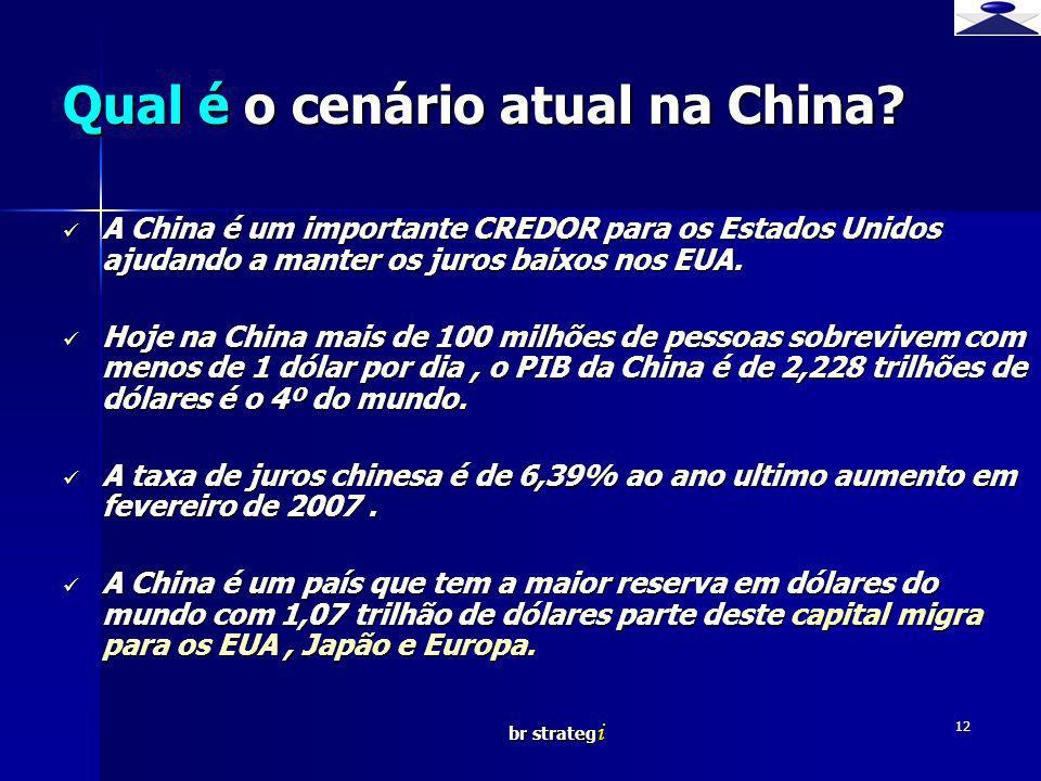 Qual é o cenário atual na China